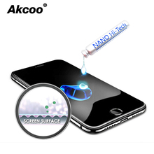 цена на Akcoo Nano liquid glass screen protector for iPhone 5 6 7 8 Plus XS MAX XR Invisible Protector Anti-Scratch 9H hardness for ipad