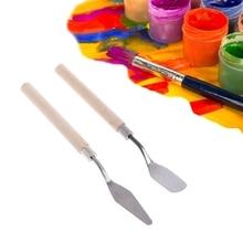 Палитра масла Смешивания Краски er краски инструмент скребка скребок нож текстура художника искусство рисования шпатель ящик акварельный студенческий пигмент