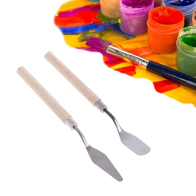 Palette Oil Mix Painter Paint Tool Scrape Scraper Knife Texture Artist Art Draw Spatula Drawer watercolor Student Pigment