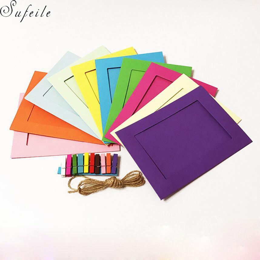 Karton Bilderrahmen Farbe Fotowand 3 5 6 7 zoll Zehn farbe Karte ...