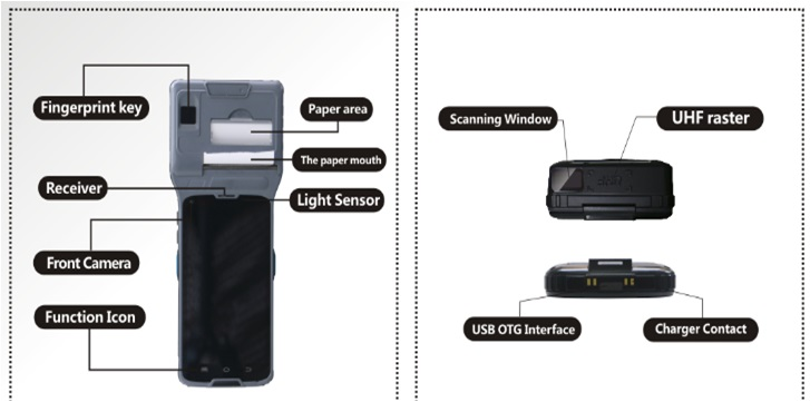 Android POS Terminal PDA with NFC and Thermal printer