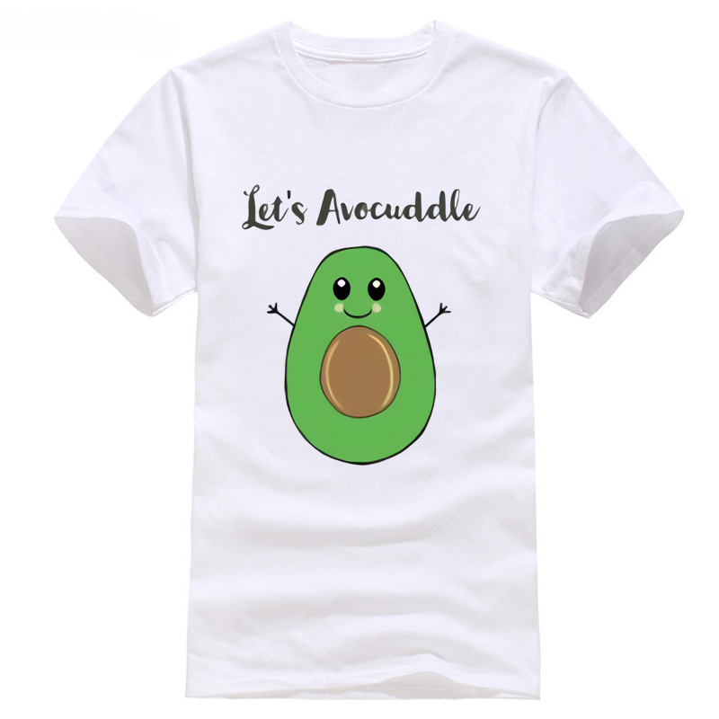 LETS AVOCUDDLEing SLOGAN PUN JOKE BIRTHDAY PRESENT AVOCADOr VEGAN discout hot new fashion top free shipping 2018 Short Sleeves image