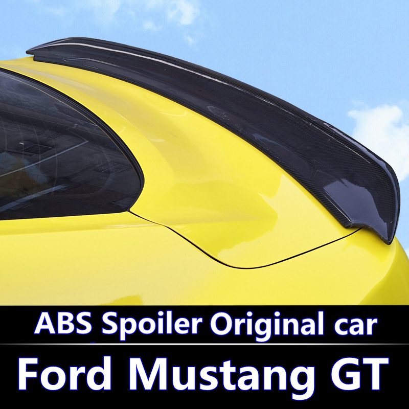 for Ford <font><b>Mustang</b></font> spoiler <font><b>2015</b></font> 2016 2017 High hardness and quality ABS material rear trunk <font><b>wing</b></font> spoiler for Ford <font><b>Mustang</b></font> spoiler image