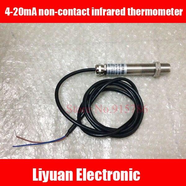 4 20ma非接触赤外線温度計/500cでライン型プローブ高温度センサー/赤外線温度トランスミッタ  グループ上の 電子部品 & 用品 からの センサー の中 1