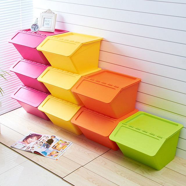 Genial Straw House Kitchen Plastic Storage Box Storage Box Color Sorting Box Toy  Storage Box Stackable Storage