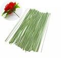 Искусственные шелковые цветы из зеленой проволоки, 10 шт., 15 см