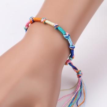 Fashion brazilian bracelet multicolor braided boho chain bohemian tassel strain handmade sport chain friendship bracelets unisex 3