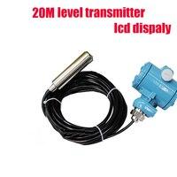 20m water level Transmitter/ level sensor hydrostatic level transmitter level gauge Liquid depth tester, output signal 4 20mA