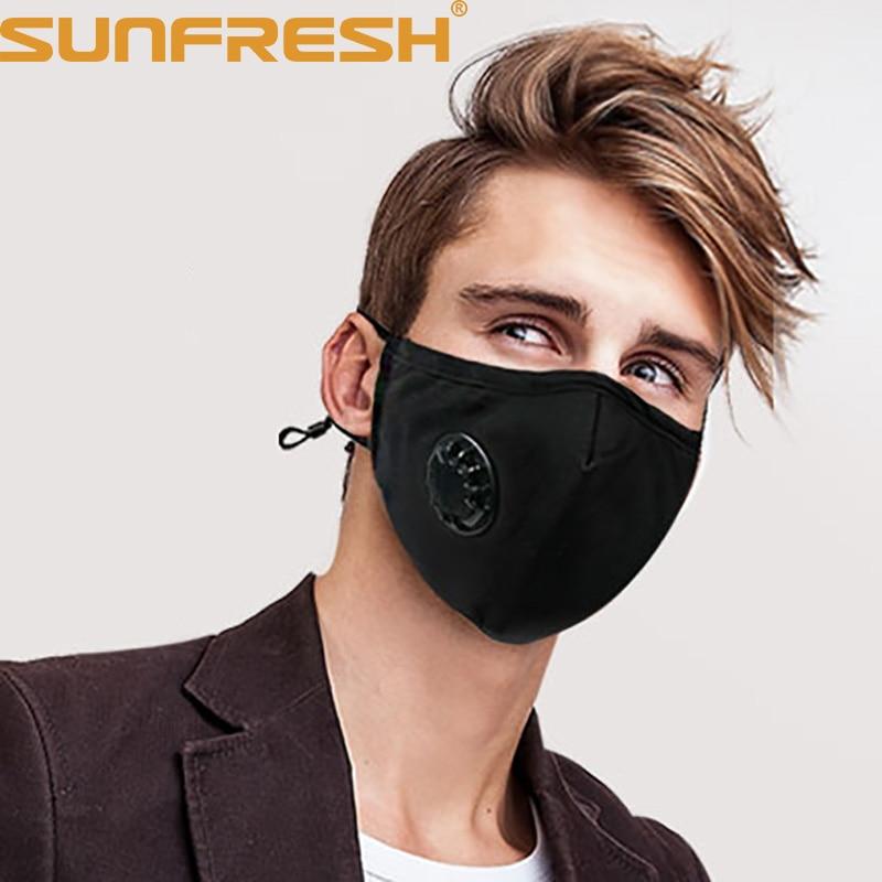 1 Pc Pm2.5 Anti Polvo Niebla Máscara N99 N95 Con Una Respiración Filtro De Carbono Activado Respirador De Máscara Antibacteriano De La Boca Máscara Altamente Pulido