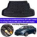 Задний загрузочный грузовой лайнер лоток для багажника багажный коврик на полу для Hyundai Solaris Accent Verna i25 2011-2017 для Dodge Attitude Sedan