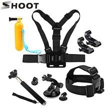 SHOOT Action Camera Accessory Set Kits for GoPro Hero 5 4 3 Xiaomi Yi 4K Eken SOOCOO C30 H9 SJ7 SJCAM SJ4000 Camera Go Pro Strap