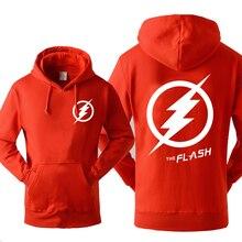 Super Hero The Flash Sudadera con capucha para hombre, otoño e invierno, forro polar cálido, sudadera Hipster de película, sudadera deportiva para hombres, 2019