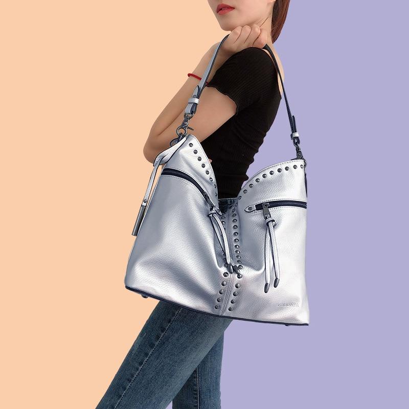 Womenv PU Leather Handbags Large Capacity Ladies Shoulder Hobos Bag Female Tote Crossbody Bags