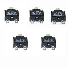5 pcs Circuit Breakers with manual reset DC 50V AC125-250V Quick Connect Terminals 5A 10A 15A 20A 30A