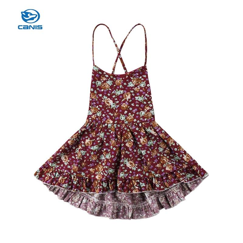 Kids Toddler Baby Girl Skater Dress Floral Dress Party Wedding Dress Sundress