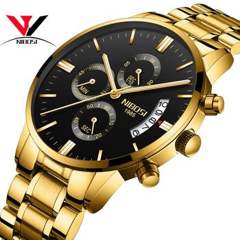 Relogio Masculino NIBOSI Sports Watches For Men Military Army Analog/Chronograph Men Watch Stainless Steel Dress Male Clock Saat 1