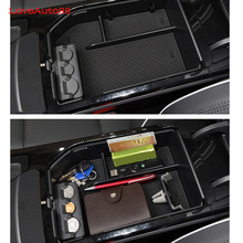 Central Armrest Storage Box Container Interior Stowing Tidying Accessories Car Styling For Hyundai Tucson 2017 2018 qcbxyyxh car styling puleather car armrest for hyundai accent 2006 2015 central storage box cover interior with cup holders case