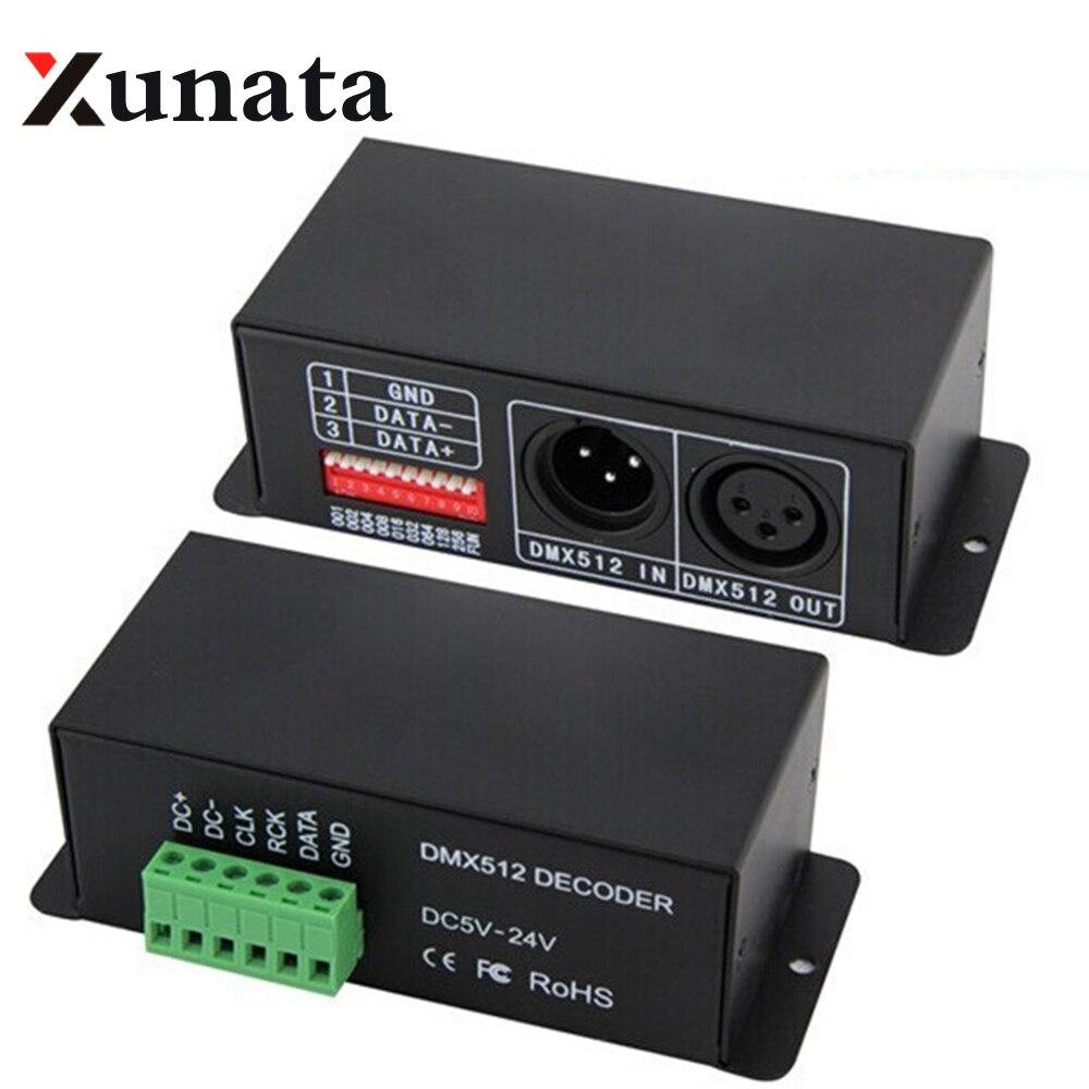 BC-802-1809 DMX512 décodeur pour WS2811 WS2812B SK6812 TM1812 UCS1903 TM1809 TM1804 bande led module 5-24 V DMX Décodeur Contrôleur