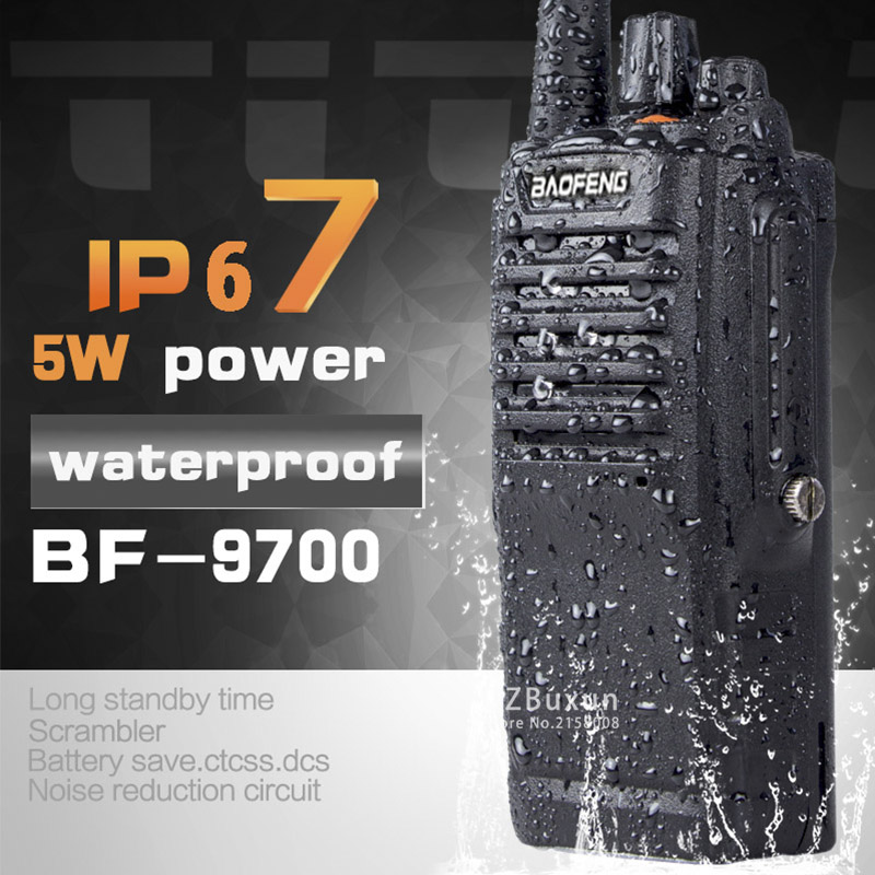 1PC 8W UHF BF 9700 IP67 Waterproof two Way Handy Radio