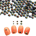 10Pcs Flat Bottom Semi-circle Rhinestone 3mm/4mm/5mm/6mm 3D Nail Decoration Manicure Nail Art Decoration