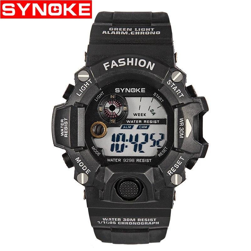 man Digital wrist watch Outdoor sport Multi function mens clocks waterproof Climbing Swim Stop Watch Alarm