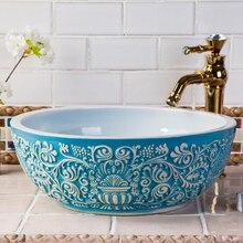 baño azul RETRO VINTAGE