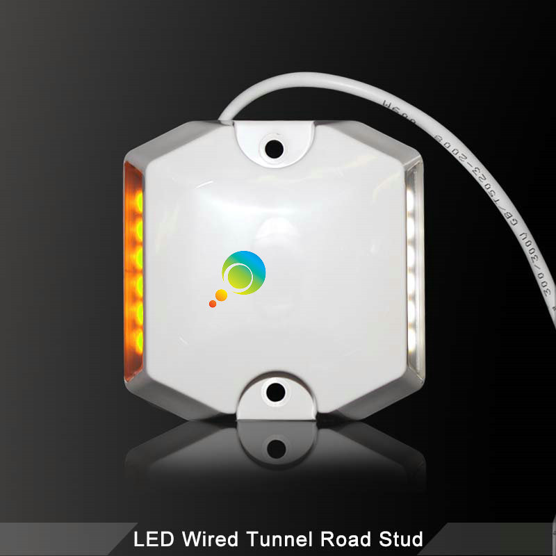 Road Safety  Tunnel Road  LED Wired Bi-color Plastic 3M Reflective Road Stud