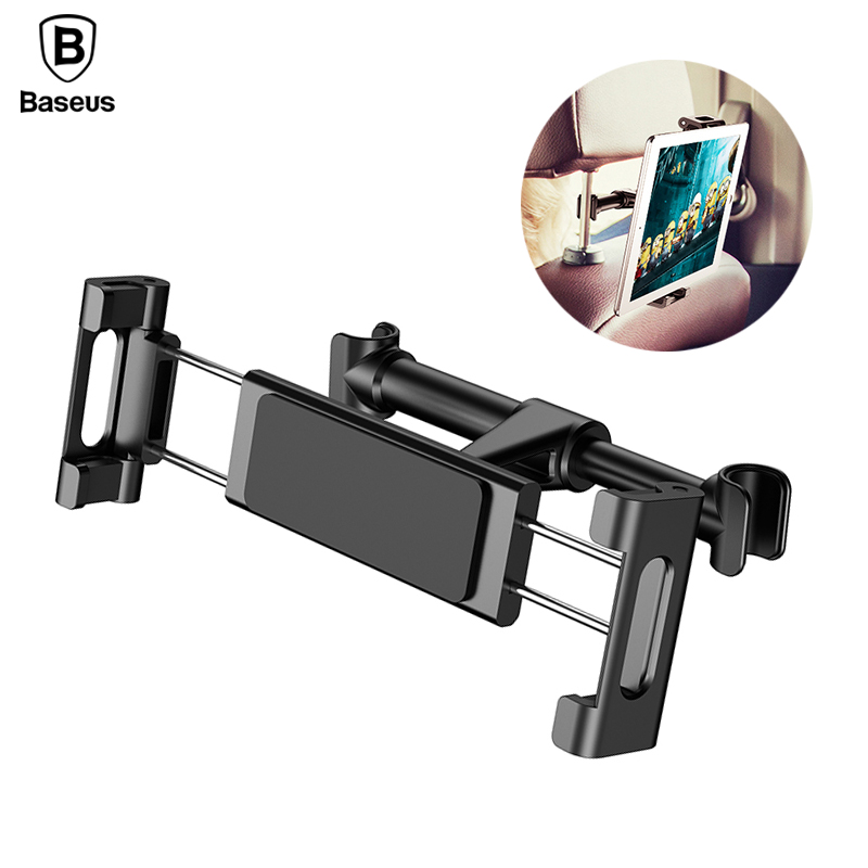 Baseus Car Back Seat Headrest Mount Holder For iPhone 7 Samsung GPS iPad Tablet Universal 360 Degree Bracket Car Backseat Mount ...