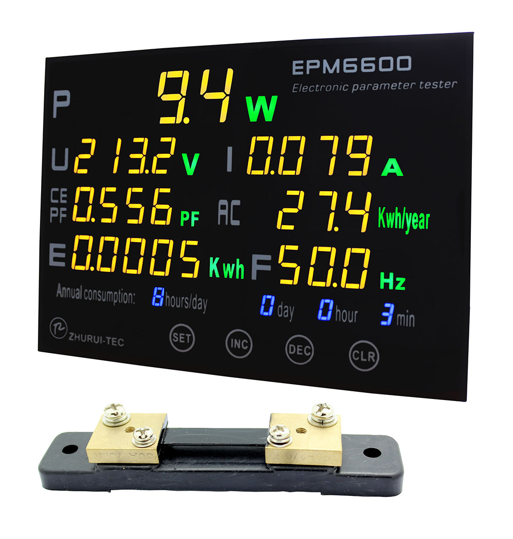 EPM6600 / 50A / 10kw / multifunction power meter monitor single fase AC electric meterenergy meter/kwh meter-in Power Meters from Tools    1
