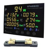EPM6600/50A/10kw/multifunktions power meter-monitor einzel fase AC elektrische meterenergy meter/kwh meter