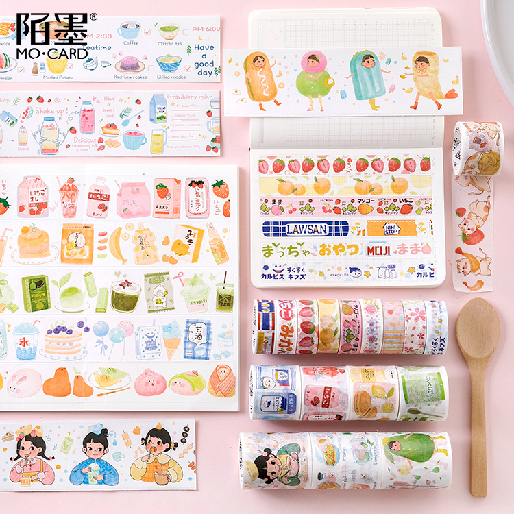 Cute Strawberry Snack Shop Patchwork Decorative Adhesive Tape Washi Tape DIY Scrapbooking Sticker Label Japanese Stationery