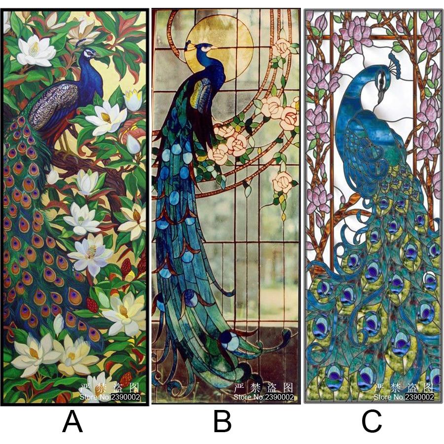 100 Peacocks Home Decor Aliexpress Com Buy Handwork Gift Blue Peacock Picture Canvas Diy