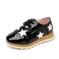 Children Casual Shoes Girls PU Leather Stars Lace Up Sneakers Kids Fashion Sport Shoes Spring Autumn Children Shoes Size 21-36