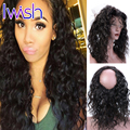 Water Wave With Baby Hair 360 Lace Frontal Closure Peruvian Virgin Hair 360 Frontal Band With Adjustable Straps Wet Wavy Hair