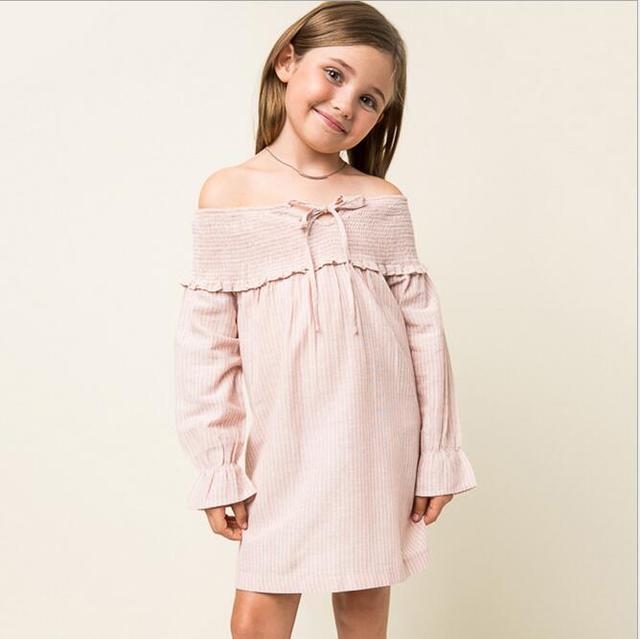New 2016 Teenager Striped Shirt Dresses Junior Fashion Cotton Dress Big  Babies Autumn Christmas Clothing Children's Clothes - New 2016 Teenager Striped Shirt Dresses Junior Fashion Cotton Dress