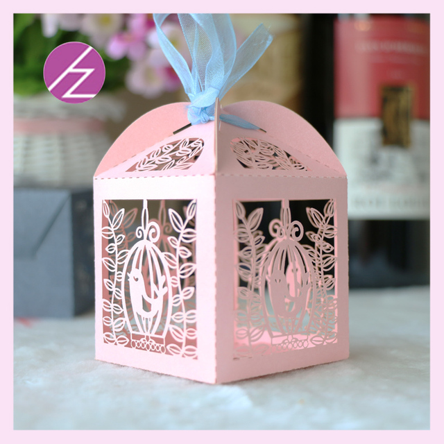 Boîte à bonbons en papier découpé au laser   Fête à thème marin, papier perlé, boîte à chocolat, petits sacs en papier, 100 pièces/lot