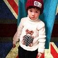 1-5 T de la Historieta Patten Bebé Suéter de La Muchacha Pullover Otoño Invierno Para Niños Ropa Para Niños Tops Rojo Negro Blanco gris Amarillo