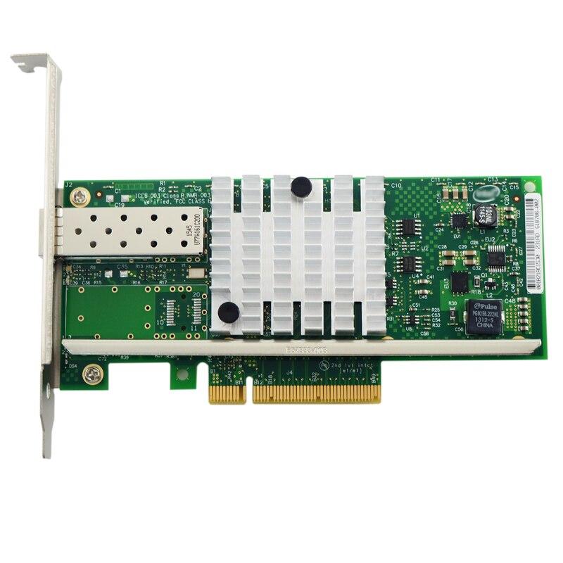 Single Port Fiber LC 10-Gigabit Ethernet Server Adapter Card X520-SR1 E10G41BFSR Free Shipping цена