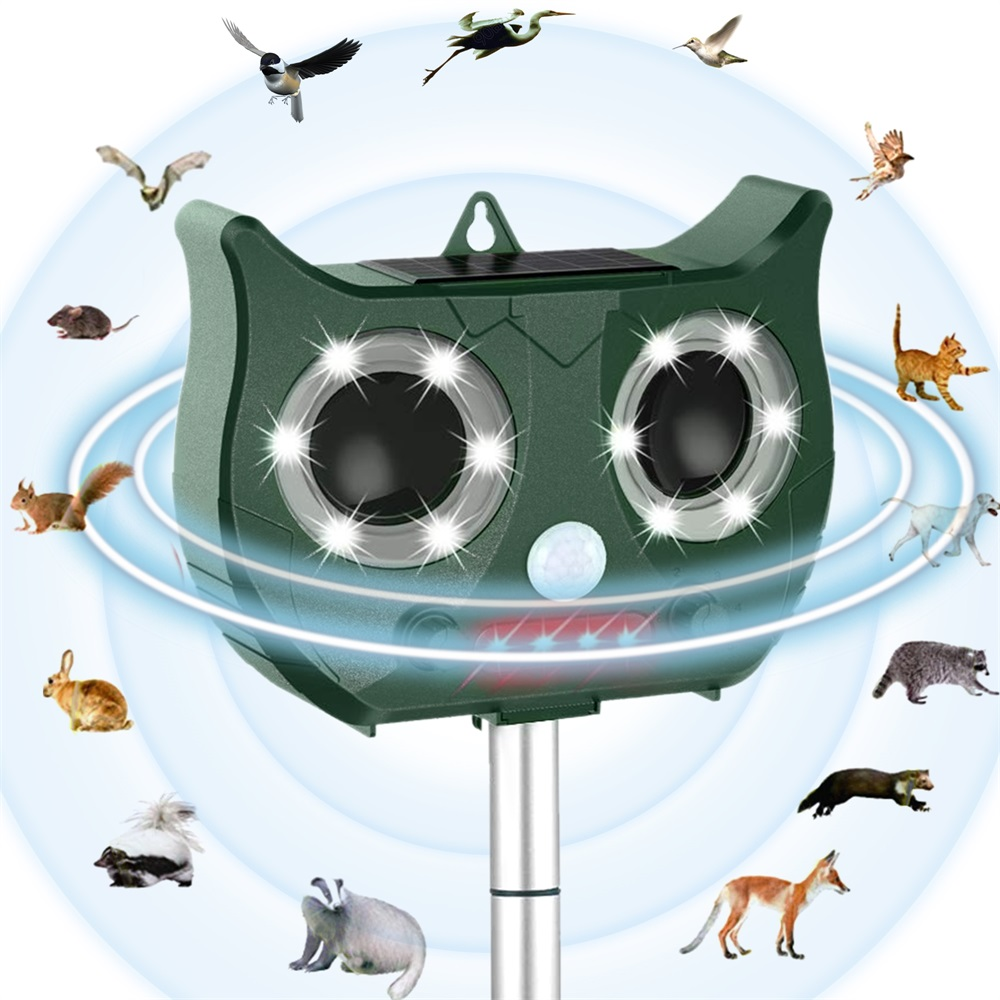 2019 New Solar Ultrasonic Animal Repeller Include  Lithium Battery, Waterproof Pest Repeller Snake Cat Dog Bird Dispeller