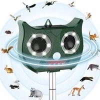 2019 New Solar Ultrasonic Animal Repeller Include Lithium Battery, Waterproof Pest Repeller Snake Cat Dog Bird Dispeller