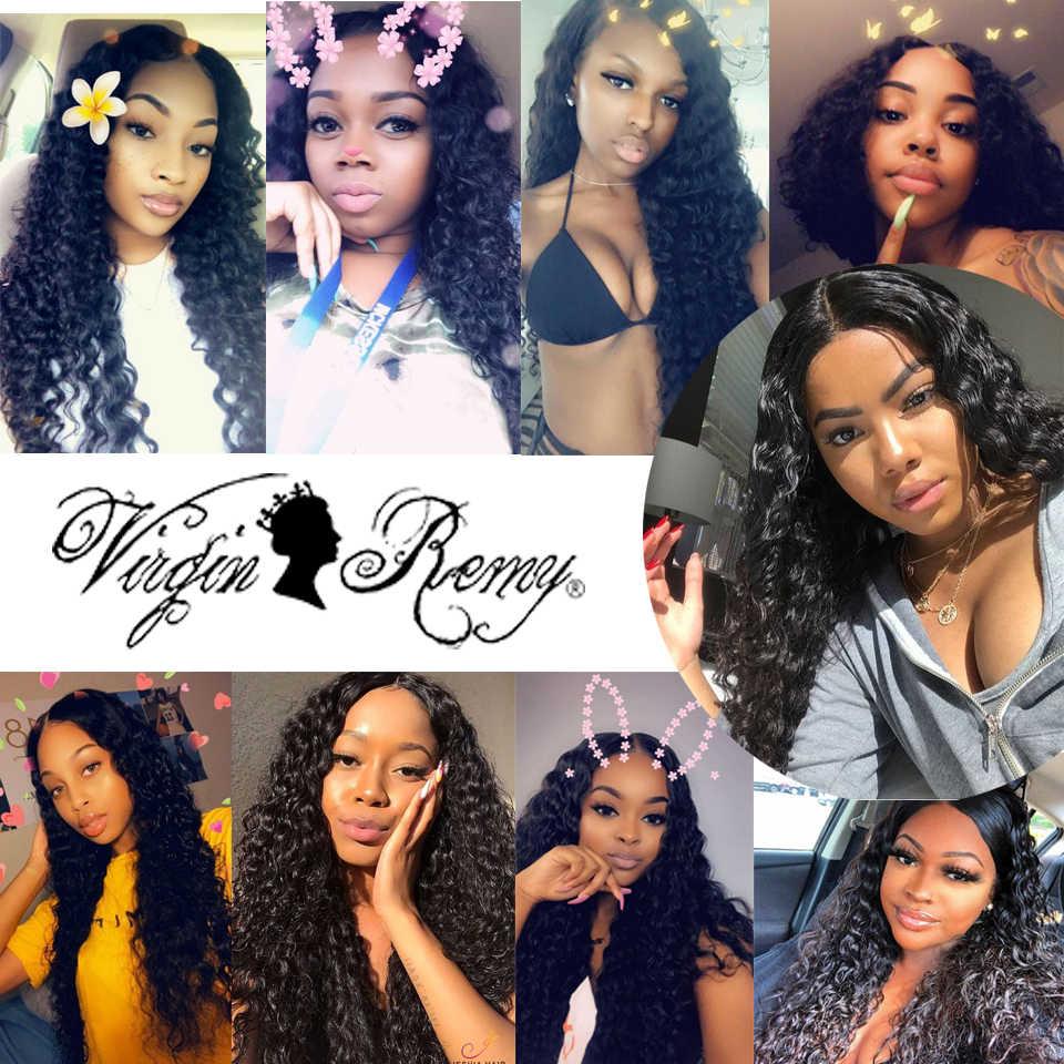 Queen Virgin remy волосы индийские глубокая волна Кружева Закрытие 100% человеческих волос 4*4 средний/свободный/три части кружева волос натуральный цвет