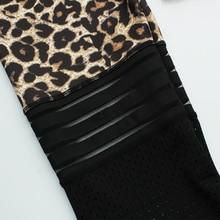 Sexy Leopard Print Leggings Women Activewear Mesh Patchwork Fitness Legging High Waist Workout  Jeggings