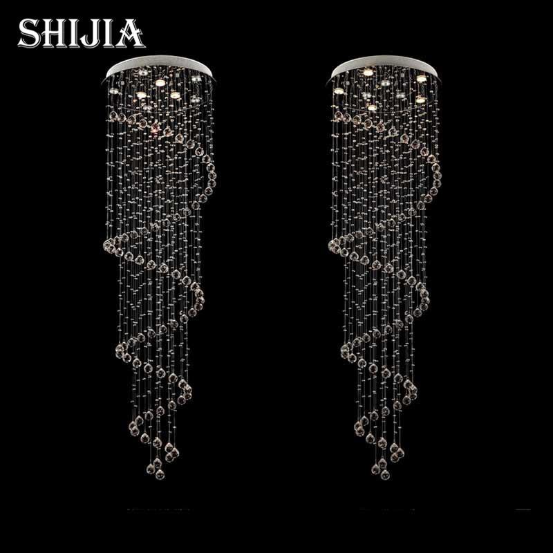 stair lighting fixtures. d80cm modern led spiral lustre crystal pendant light fixtures long stair for staircase hotel foyer lighting