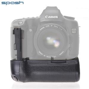 Image 2 - Poignée de batterie verticale multi puissance spash pour Canon EOS 6D remplacement de caméra BG E13 support de batterie professionnel travail avec LP E6