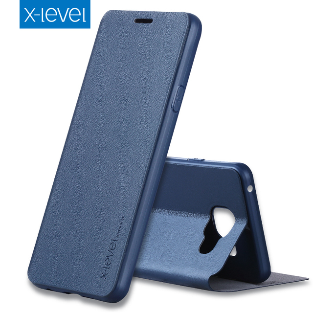 the latest 95bcd 55df5 US $9.19 8% OFF|X Level Luxury Flip Leather Case for Samsung Galaxy A3 A5  A7 2016 2017 A8 A6 Plus 2018 A10 A20 A30 A40 A50 A70 Soft Fundas Cover-in  ...