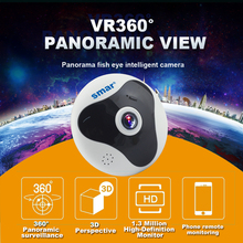 Wireless 360°C Panoramic Smart Camera with Fisheye Lens
