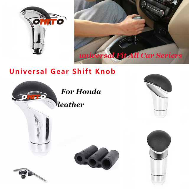 1PCS/LOT accessories Leather 5 Speed Car Gear Shift Head Lever ...