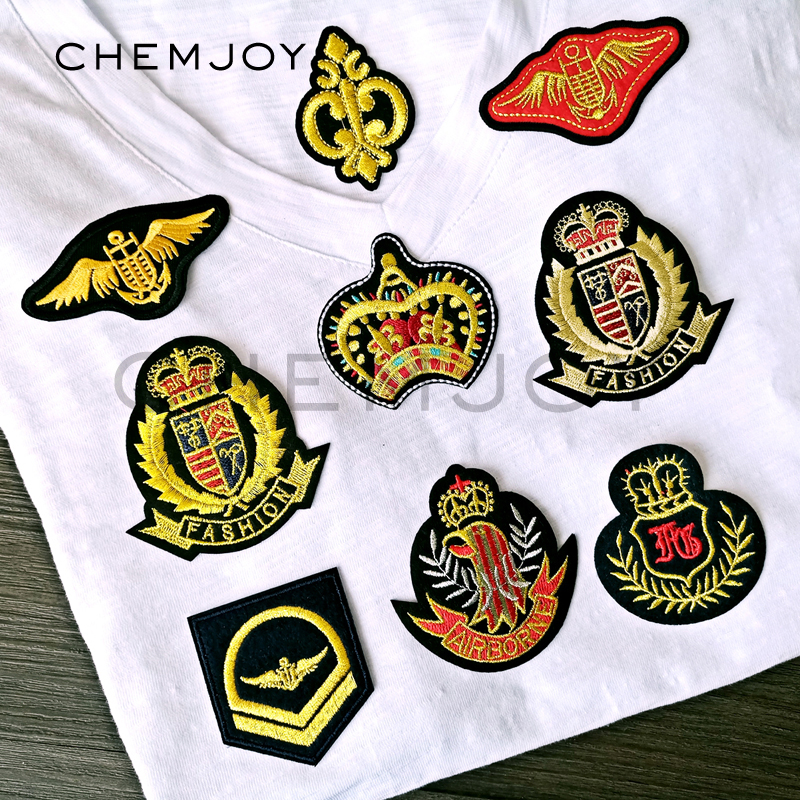 Gold Wings Crown Military Patches Ironing on Repair ...