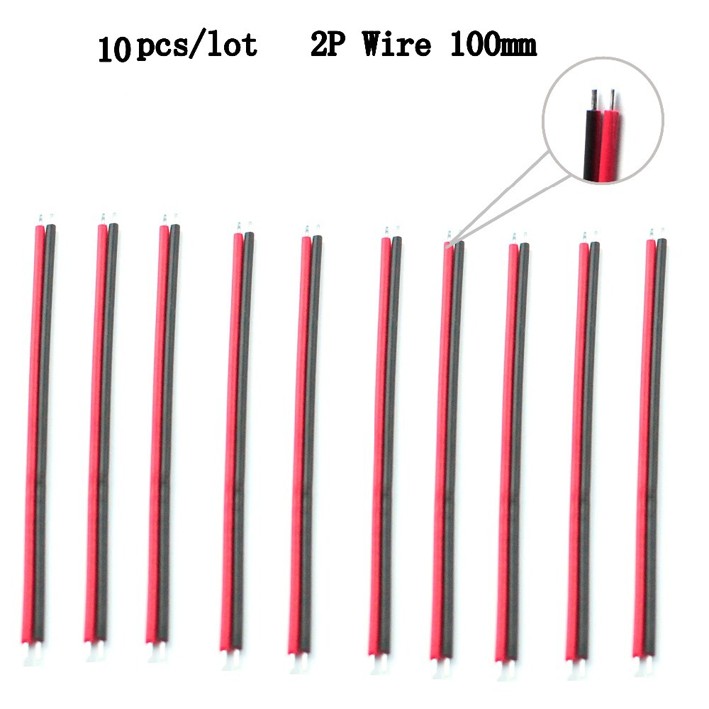 10PcsPack <font><b>2Pin</b></font> Electrical Cable <font><b>Wire</b></font> for Copper Roll Single Color LED Light Strip and Modules etc image