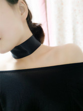 2016 Trendy Elegant Black Wide cloth Choker Necklace For Women Girls Fashion Jewelry Gothic hyperbole False